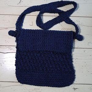 Vintage Woven Shoulder Bag~ Made in Italy